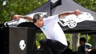 NEW YORK, NY - JUNE 04:  Skateboarder Brian Anderson skates during the 2011 Maloof Money Cup at Flushing Meadows Corona Park on June 4, 2011 in New York City.  (Photo by Dario Cantatore/Getty Images)