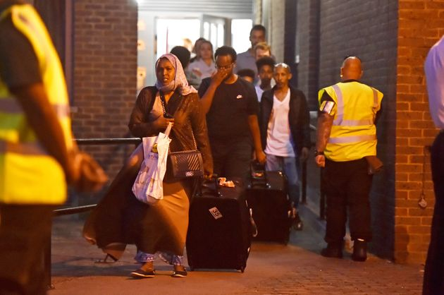 <strong>Residents of Taplow Tower in Camden were evacuated from their homes on Friday night with...
