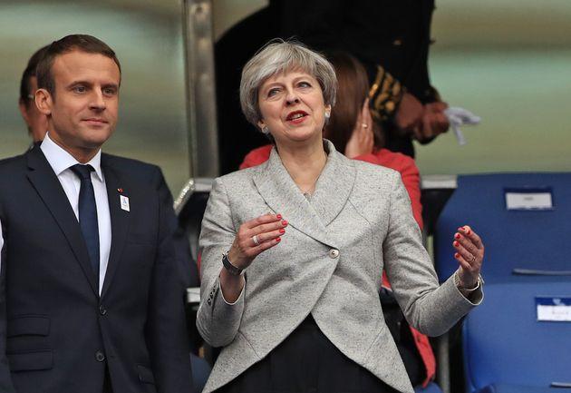 Emmanuel Macron and Theresa