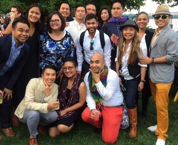 Several LGBTQ Filipino Americans represented at New York City Mayor de Blasio's annual Pride Party at Gracie Mansion.