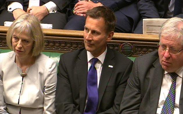 Theresa May, Jeremy Hunt and Tory chairman Patrick