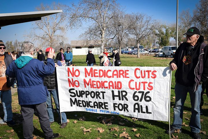 Rally to protect Medicare and Medicaid, Bakersfield, CA, January 2017