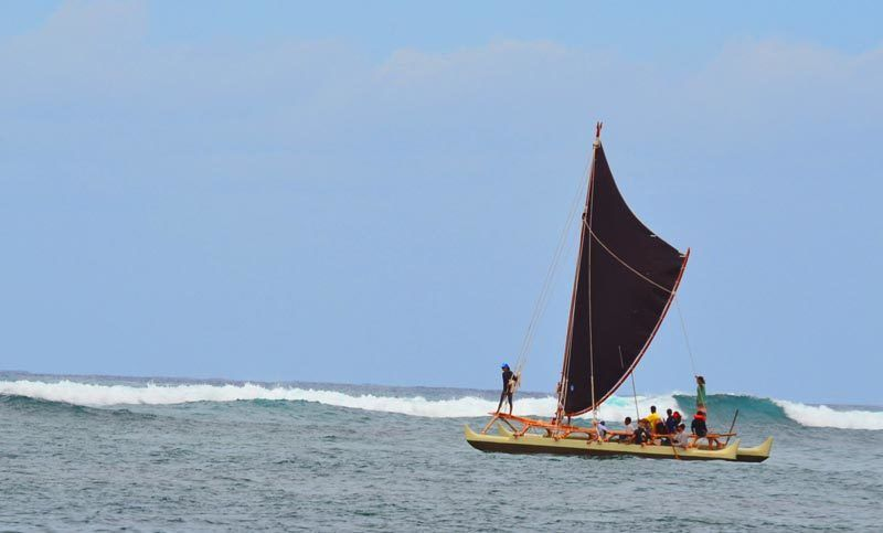 Sea trials for Wānana Pāoa in Waialua Bay.