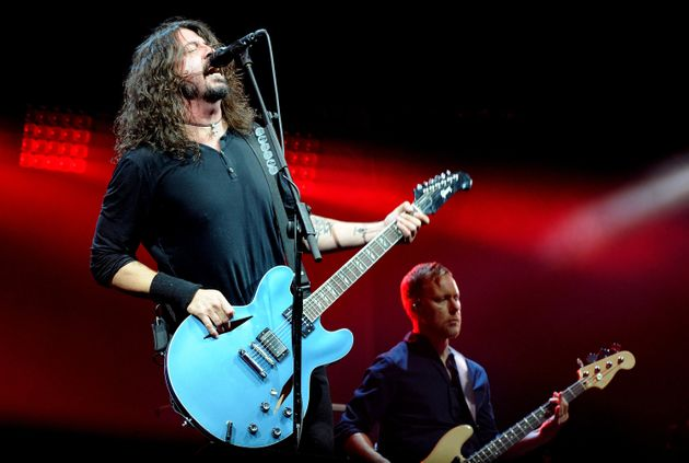 Dave Grohl on stage at