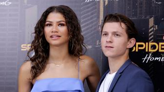 MADRID, SPAIN - JUNE 14:  Actor Tom Holland and actress Zendaya attend 'Spider-Man: Homecoming' photocall at Villa Magna hotel on June 14, 2017 in Madrid, Spain.  (Photo by Europa Press/Europa Press via Getty Images)