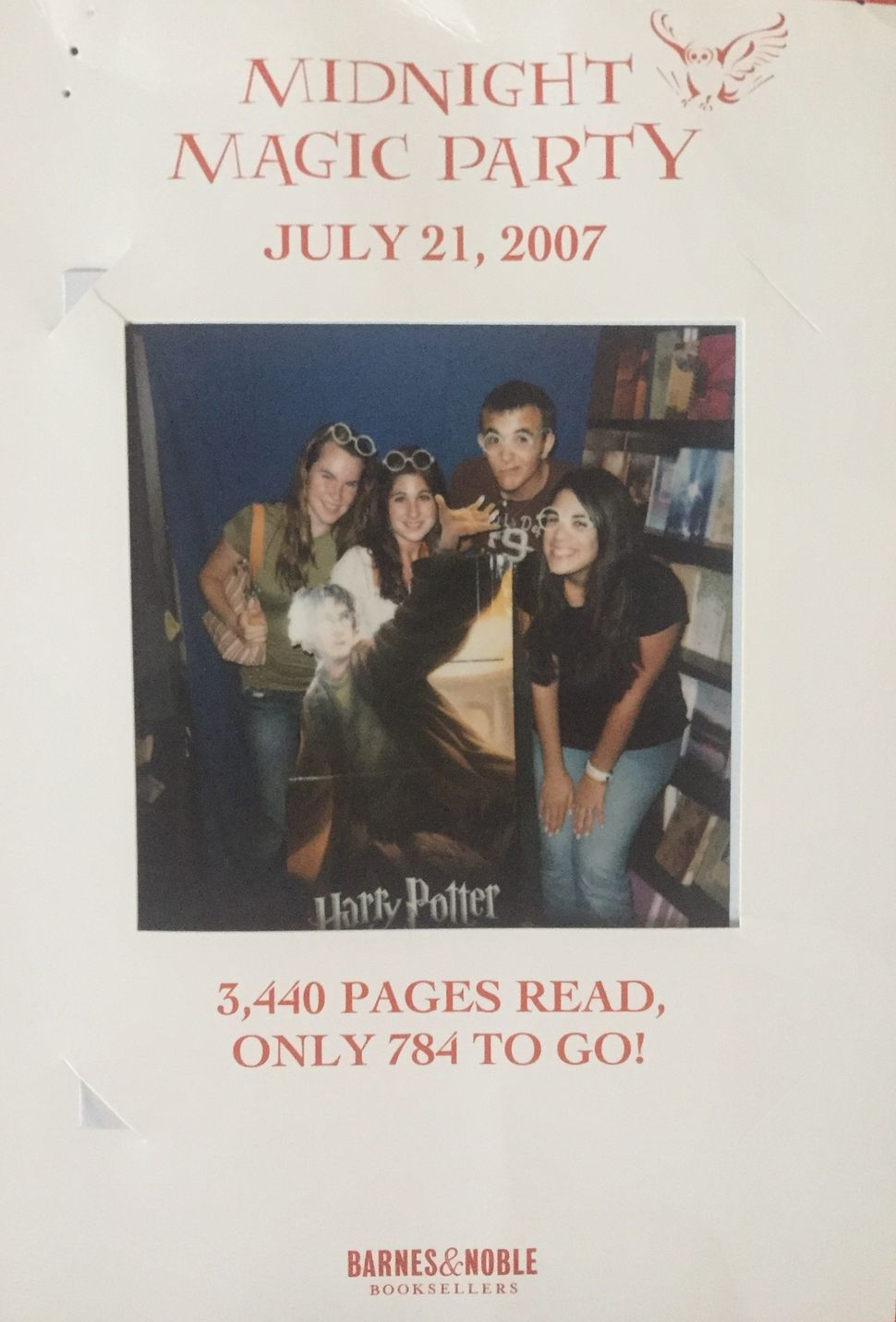 "The author and her friends at Barnes & Noble for the midnight release of ""Harry Potter and the Deathly Hallows"" in 2007."