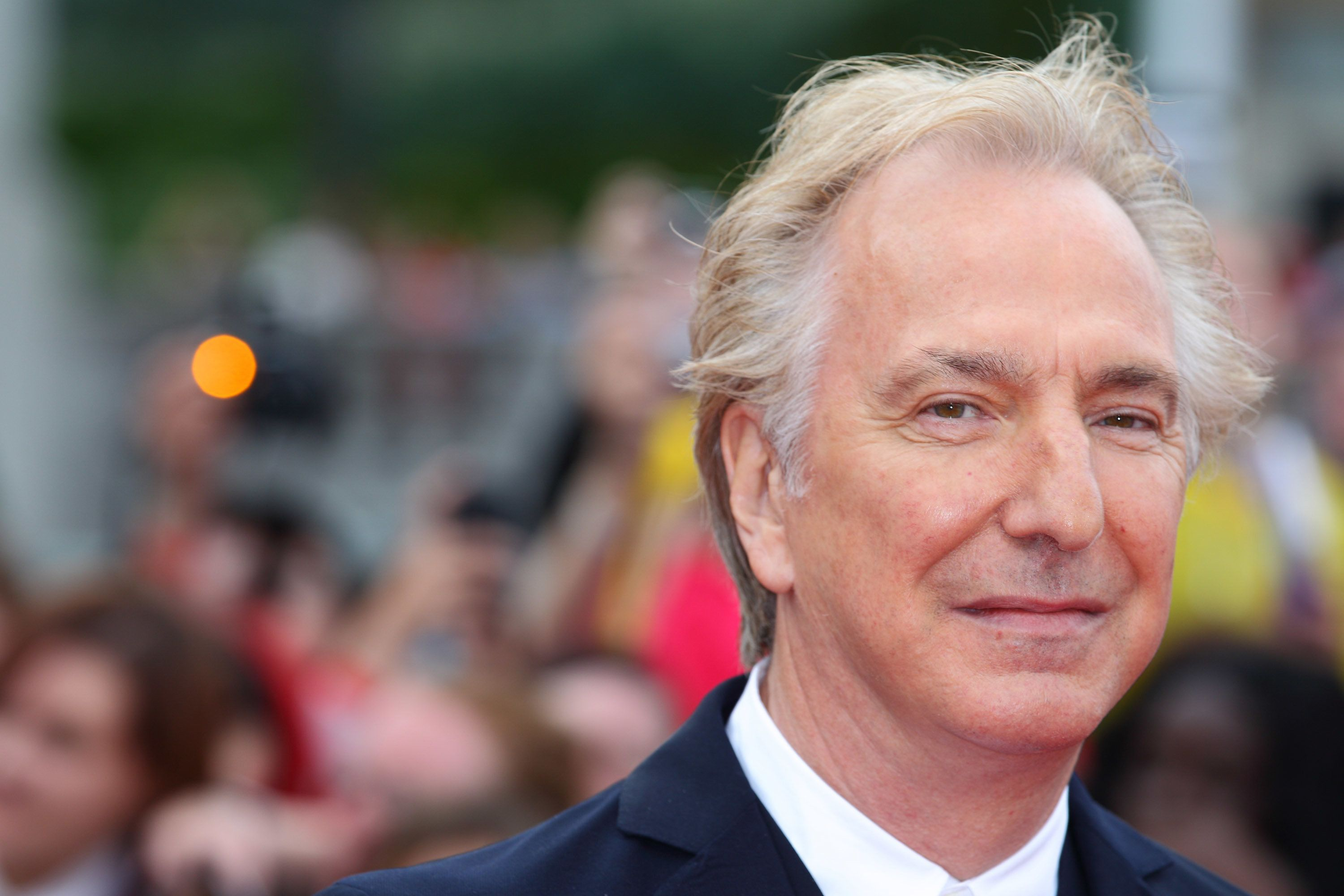 "Alan Rickman attends the world premiere of ""Harry Potter And The Deathly Hallows Part 2."""