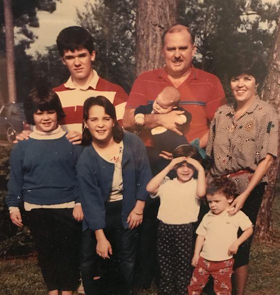 La foto de la generación anterior. Chrissy y sus hermanos, junto con sus