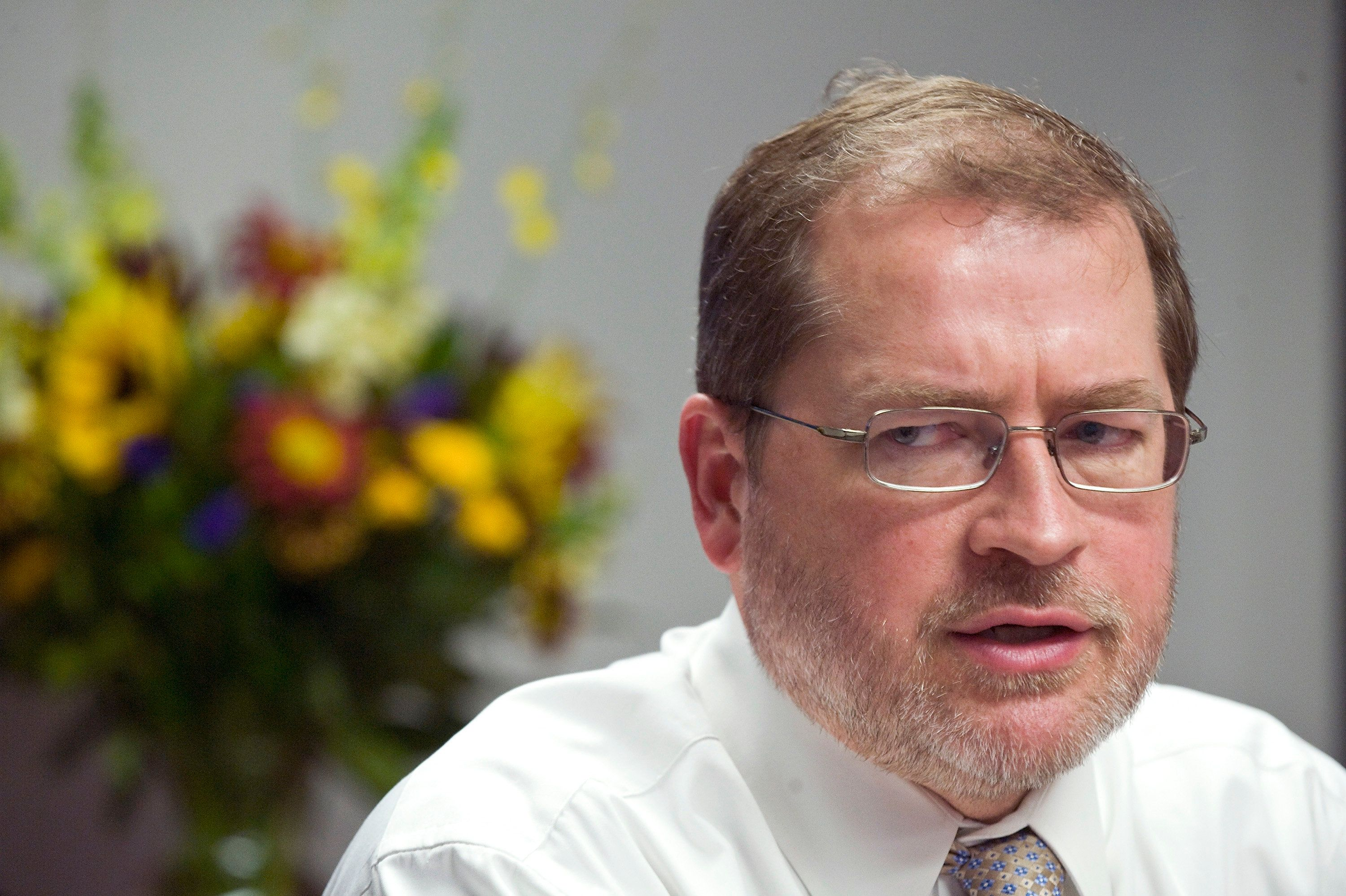Americans for Tax Reform President Grover Norquist addresses the Reuters Washington Summit in the Reuters newsroom in Washington, November 7, 2011. REUTERS/Jonathan Ernst (UNITED STATES - Tags: POLITICS BUSINESS)