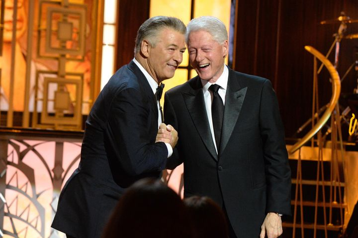 """Alec Baldwin and former President Bill Clinton at """"One Night Only"""" event to air July 9 on Spike."""