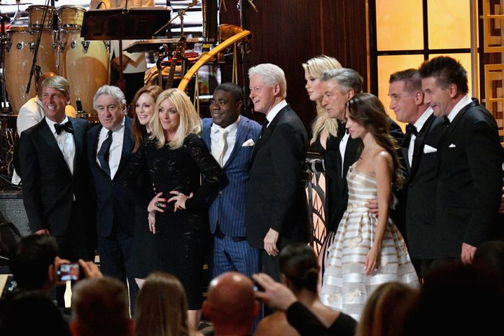 Among those attending the event were, from left: Jack McBrayer, Robert De Niro, Julianne Moore, Jane Krakowski, Tracy Morgan,