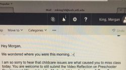 Single Mum Shares Professor's Touching Note After She Missed Class Because Childcare Fell