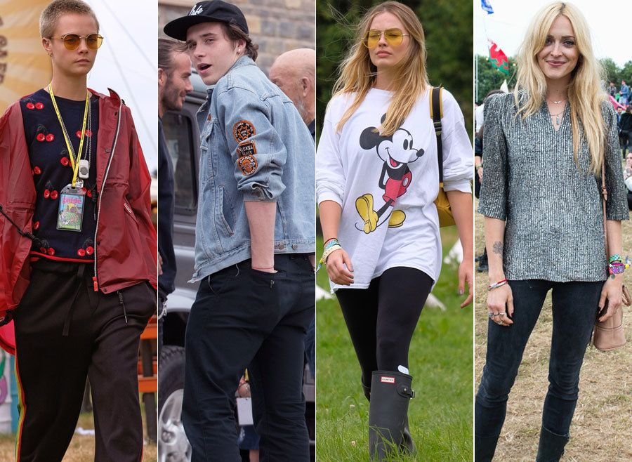 Victoria Beckham, Brad Pitt And Cara Delevingne Lead The Celebs At Glastonbury
