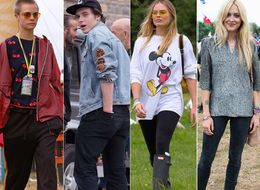 Victoria Beckham, Brad Pitt And Cara Delevingne Lead The Celebs At Glastonbury 2017