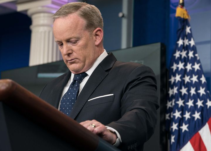 White House press secretary Sean Spicer has held fewer and fewer on-camera press briefings.