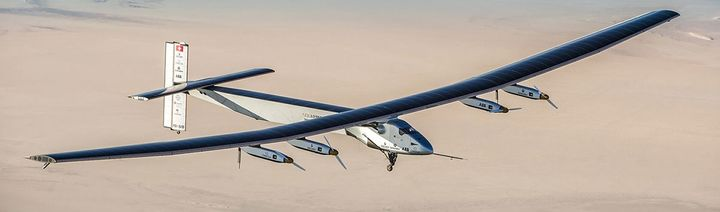The Solar Impulse 2 can theoretically fly forever, day and night, without ever stopping to refuel.