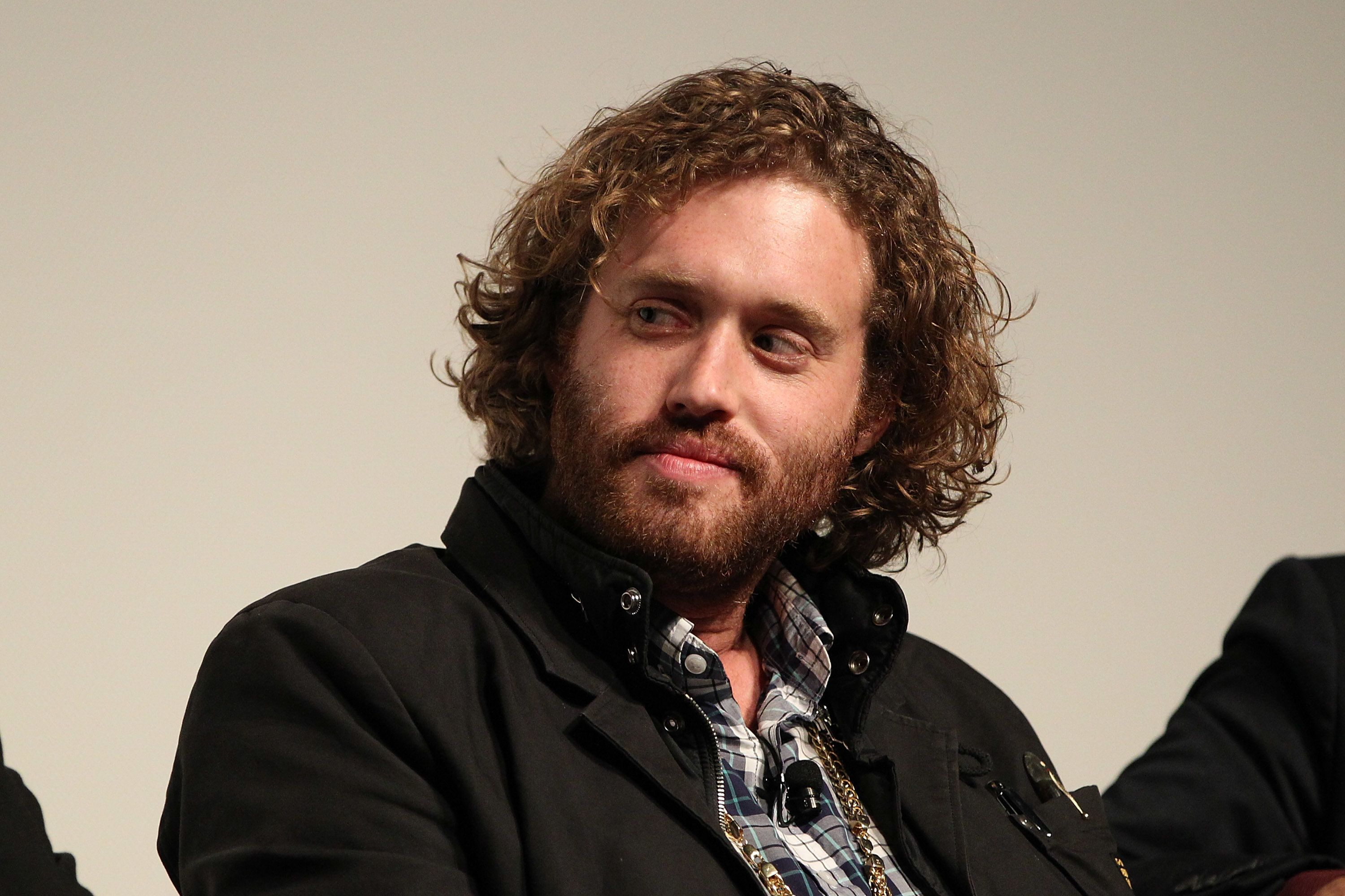 LOS ANGELES, CA - MAY 03:  T. J. Miller attends the 'Silicon Valley' screening and panel at the Writer's Guild at Writer's Guild Theater on May 3, 2015 in Los Angeles, California.  (Photo by FilmMagic/FilmMagic)