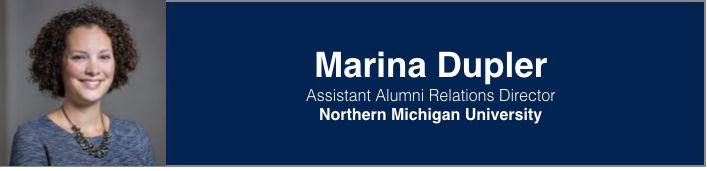 Marina Dupler   Assistant Alumni Relations Director