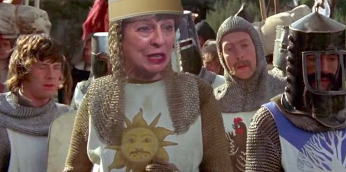 Someone Put Theresa May In The Lead Role In The Holy Grail And The Internet Has Gone
