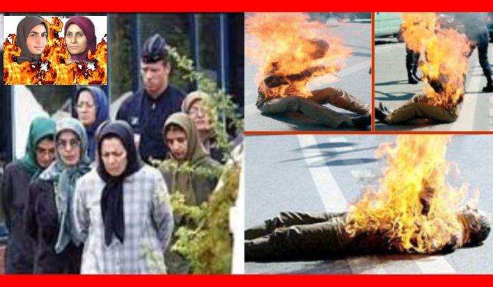 رهبر مجاهدین خلق فرمان خودسوزی ها را بعد از دستگیری توسط پلیس ضد تروریسم فرانسه صادر کرد.