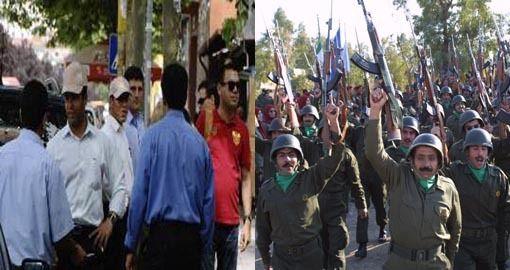 اعضای مغزشوئی شده مجاهدین خلق (چپ) در لباس شخصی در تیرانا