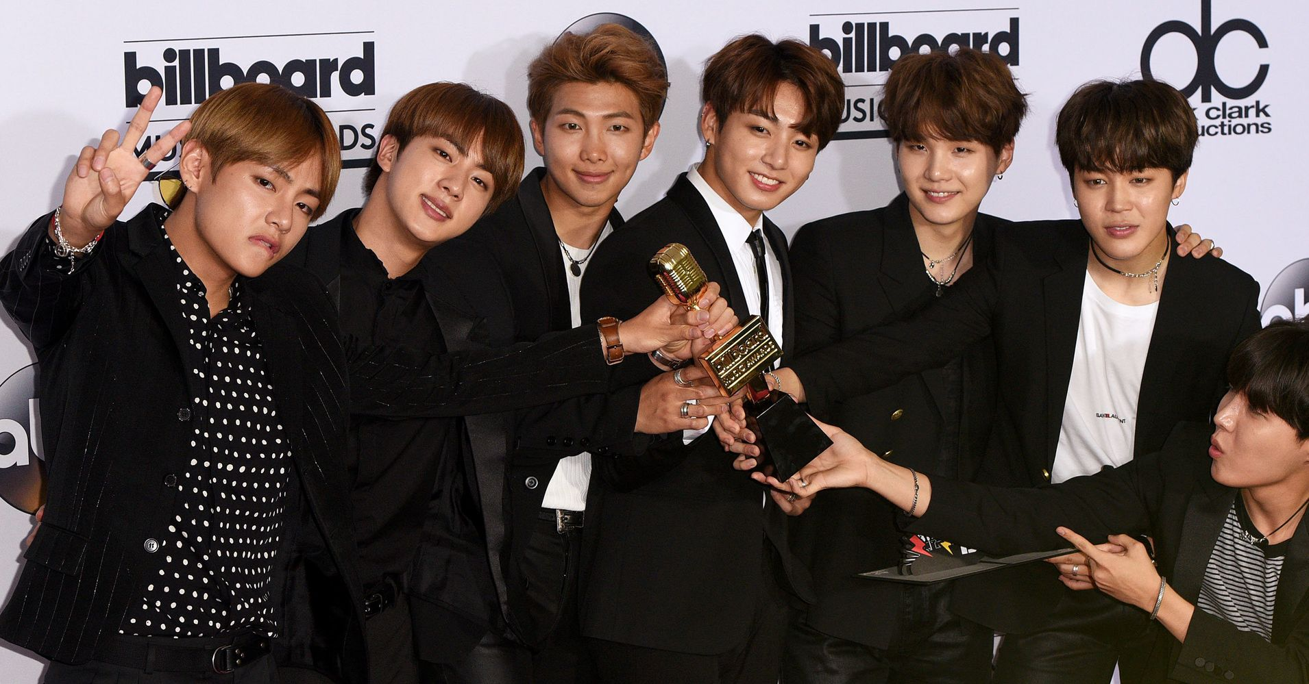 BTS after winning Billboard Award