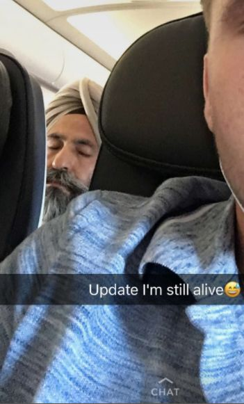 Man's Racist Snapchat Story Targets Sleeping Sikh On Plane