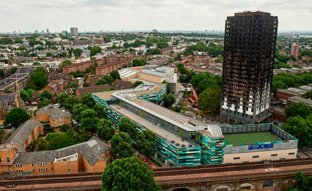 The burnt-out Grenfell