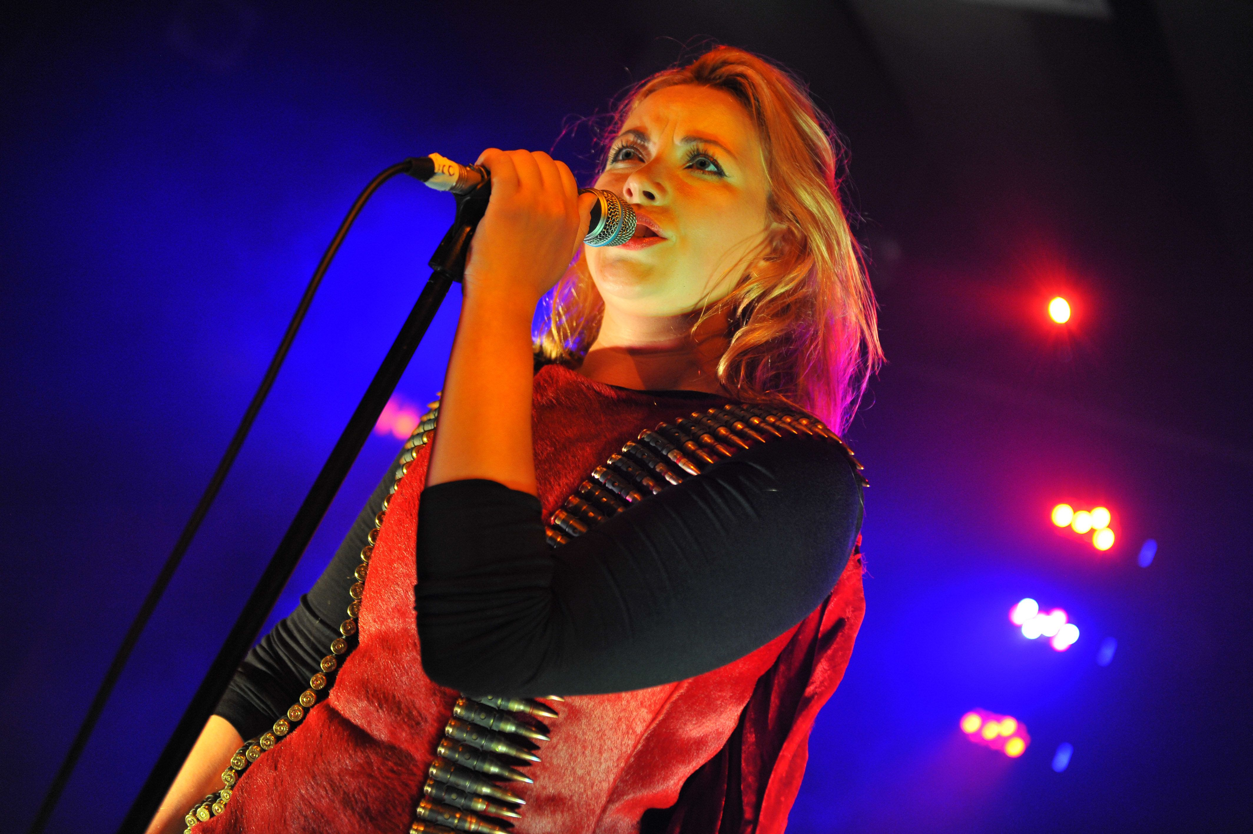 LONDON, UNITED KINGDOM - SEPTEMBER 24: Charlotte Church performs on stage at Scala on September 24, 2013 in London, England. (Photo by C Brandon/Redferns via Getty Images)