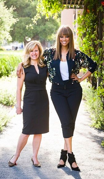 GSB lecturer Allison Kluger and co-lecturer Tyra Banks