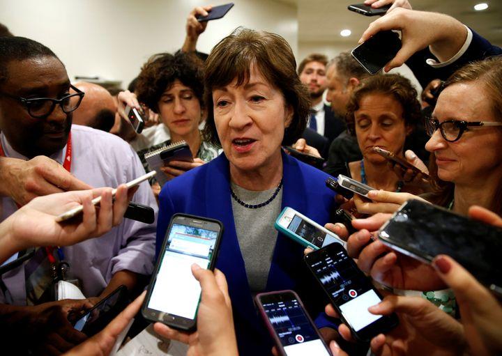 Sen. Susan Collins of Maine said she will not vote for a motion to proceed with the Senate's controversial health care b