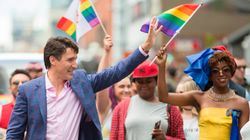 Justin Trudeau's Pride Socks Have A Not-So-Hidden