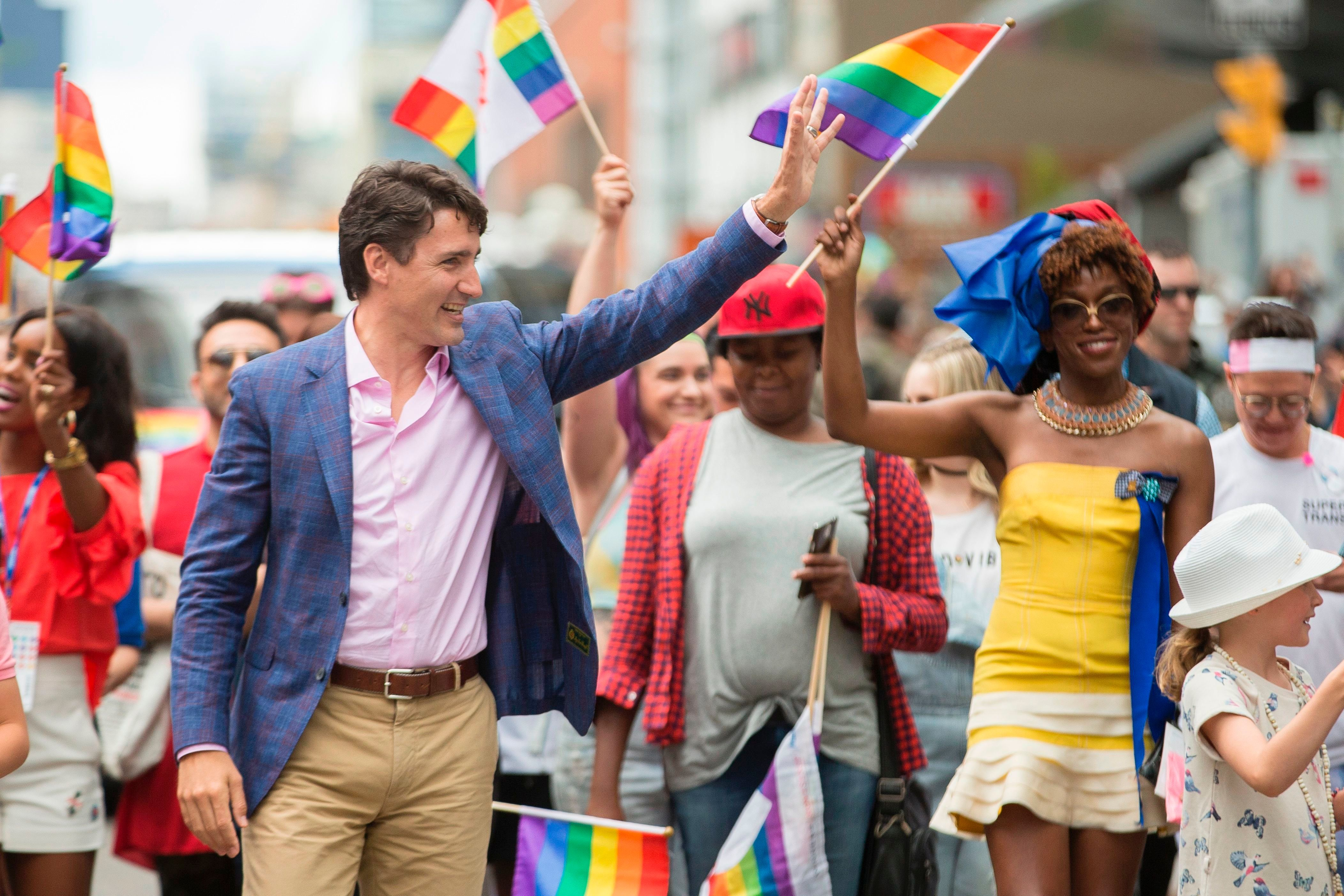 Justin Trudeau's Pride Socks Have A Not-So-Hidden Message