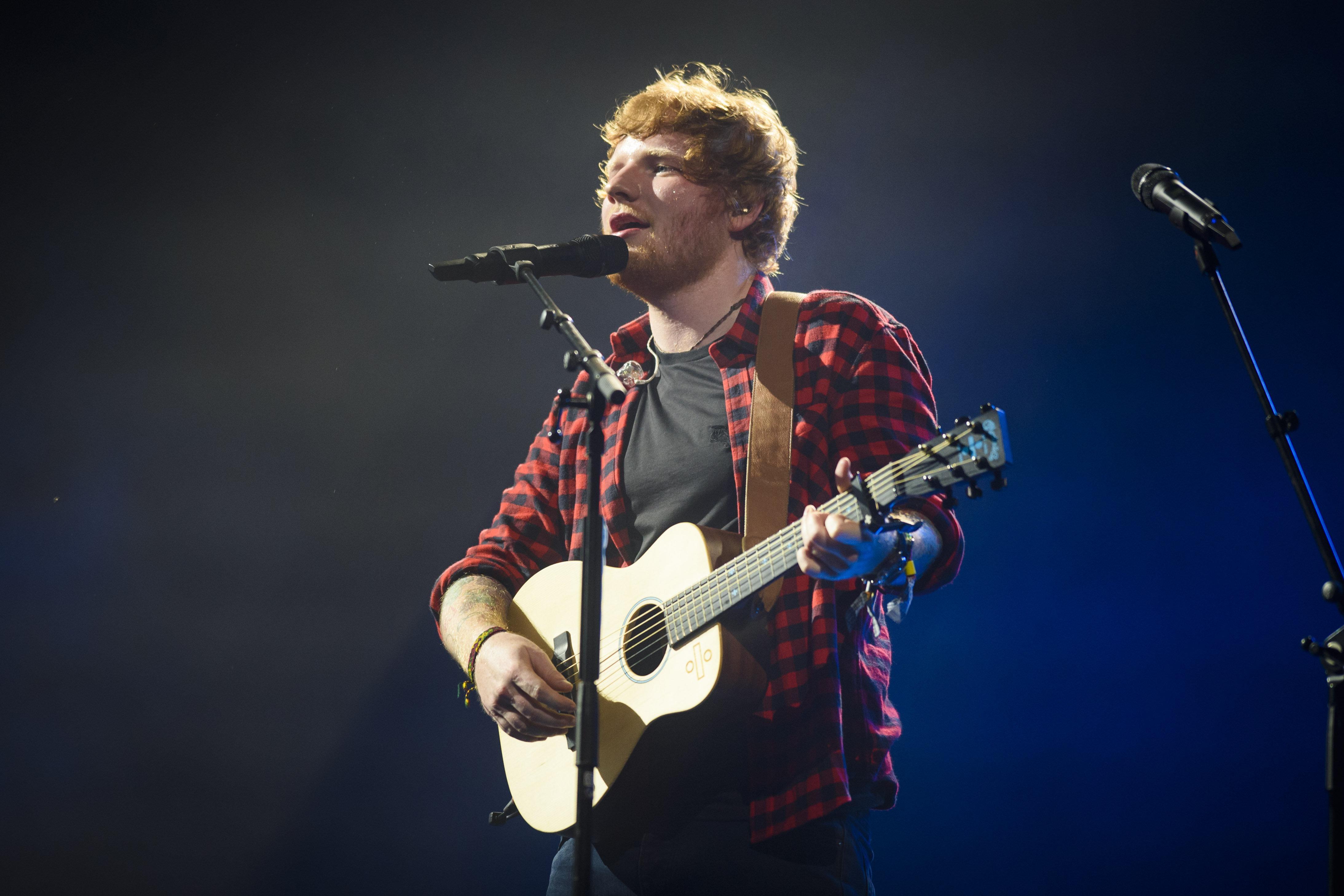 Ed Sheeran played the Pyramid Stage on Sunday