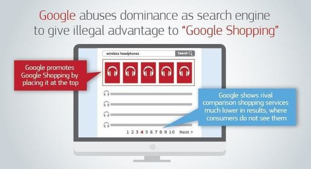 European Commission Fines Google A Record £2.1bn Over Shopping