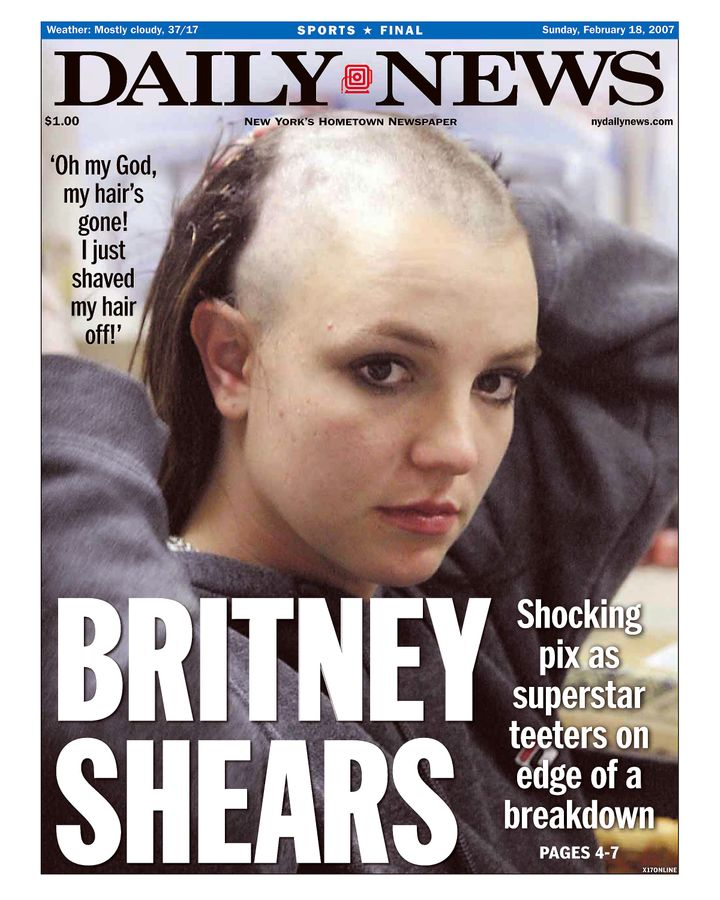 Britney's well documented public meltdown resultedin front pages like this.