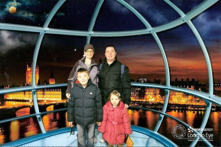 Katie Scarbrough, her husband Stuart and their two children.