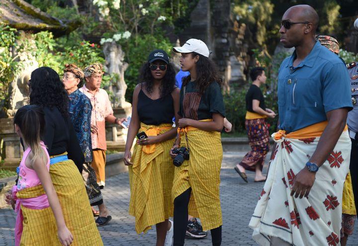 Michelle, Malia And Sasha Obama In Bali