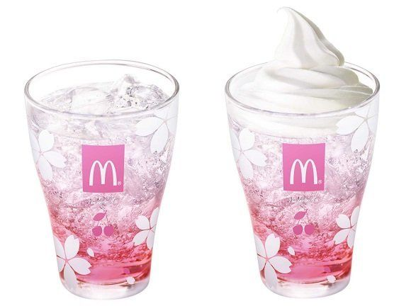 "In honor of cherry blossom season, McDonald's Japan gets these <a href=""http://en.rocketnews24.com/2017/03/07/mcdonalds-japan"