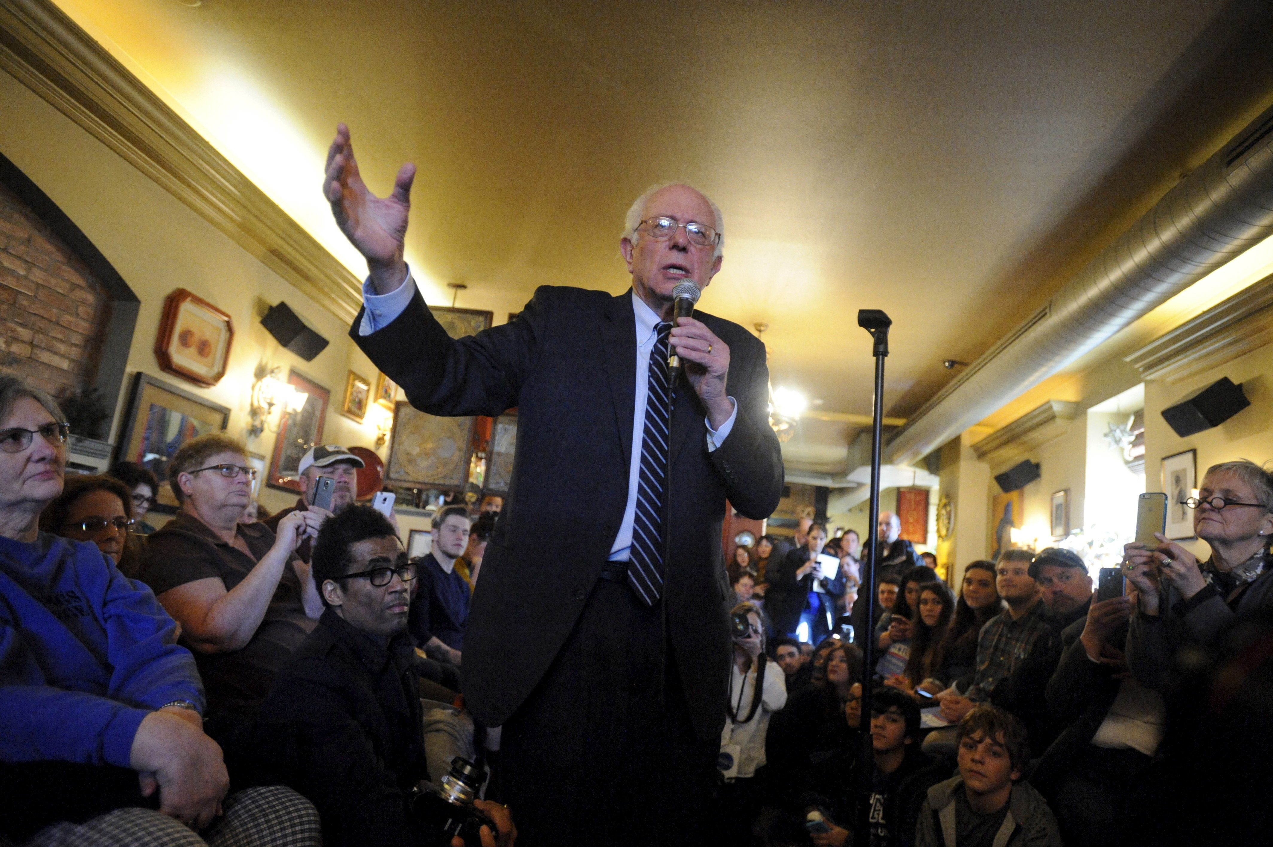 Sen. Bernie Sanders' 2016 presidential campaign raised $218 million a little at a time.
