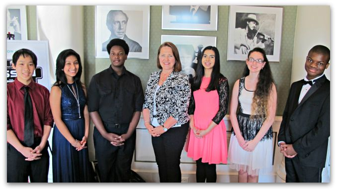 <strong>Accelerando Spring Recital student performers:</strong> Antonio Thai, Emily Martinez-Perez, Cedric Quinn, Nissan's Vi