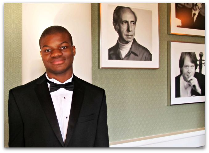 <strong>Bernard Ekwuazi</strong> is a sophomore who plays the trombone.