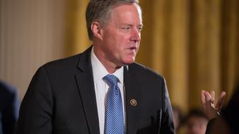 Rep. Mark Meadows, (NC 11th District), attended President Donald Trump's event announcing the Air Traffic Control Reform Initiative in the East Room of the White House, on Monday, June 5, 2017.(Photo by Cheriss May/NurPhoto via Getty Images)
