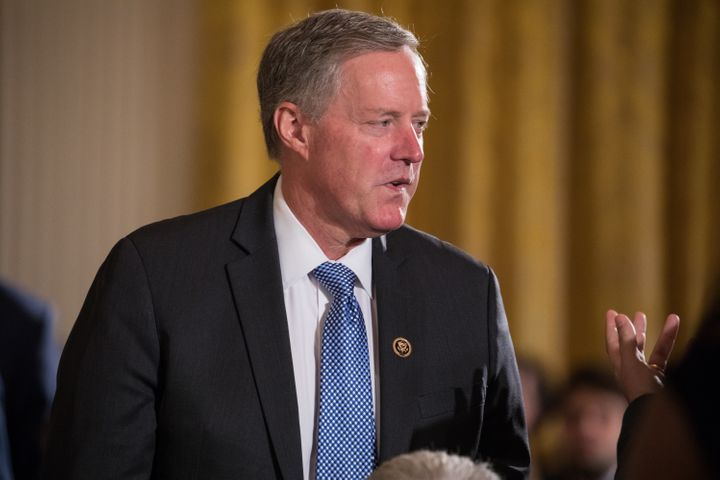 Freedom Caucus Chairman Rep. Mark Meadows (R-N.C.) at President Donald Trump's event announcing the Air Traffic Control