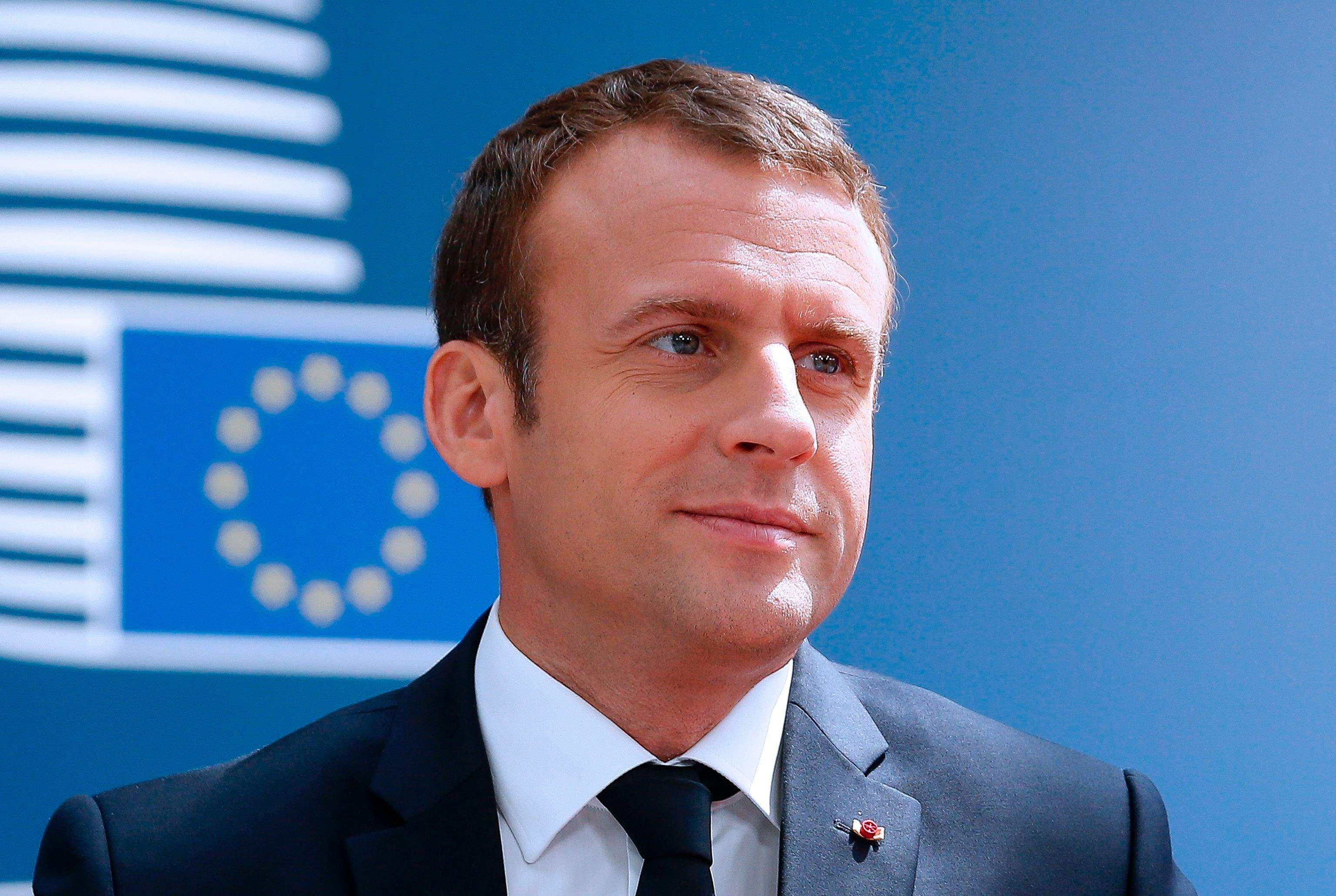 French President Emmanuel Macron arrives for an European Union leaders summit, on June 22, 2017, at the European Council in Brussels. / AFP PHOTO / POOL / JULIEN WARNAND        (Photo credit should read JULIEN WARNAND/AFP/Getty Images)