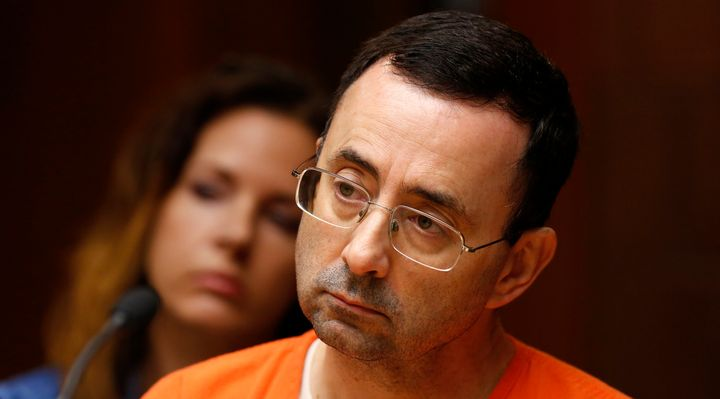 Former USA Gymnastics doctor Larry Nassar appears in court on June 23, 2017.