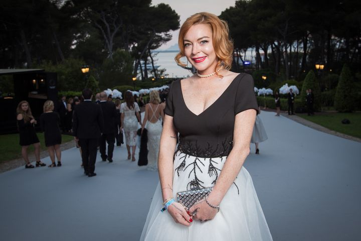 Lohan at the amfAR Gala in Cannes on May 25.