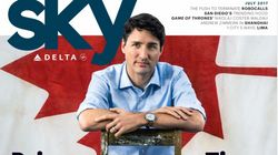 Justin Trudeau Shows Us What Manspreading Is On Cover Of Delta's