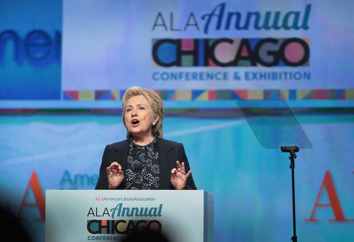 """Former Secretary of State Hillary Clinton said the work librarians do is at the""""heart of an open, inclusive and diverse"""