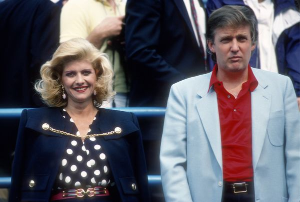 With Ivana Trump at the U.S. Open tennis tournament in Queens, New York.